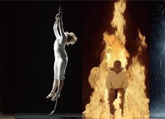 Martyrs (Earth, Air, Fire, Water) - Bill Viola, 2014