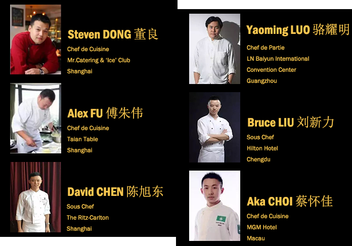 The complete lineup of competing chefs for Bocuse d'Or China Selection 2018