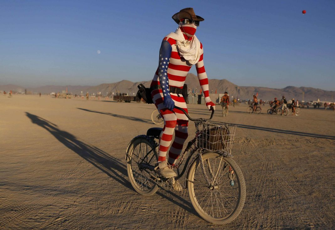 Arts and Music Festival in the Black Rock Desert of Nevada