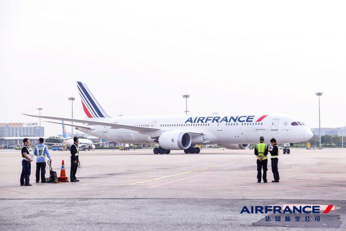 法国航空AF102航班飞抵广州 | Arrival of Air France flight AF102 from Paris to Guangzhou
