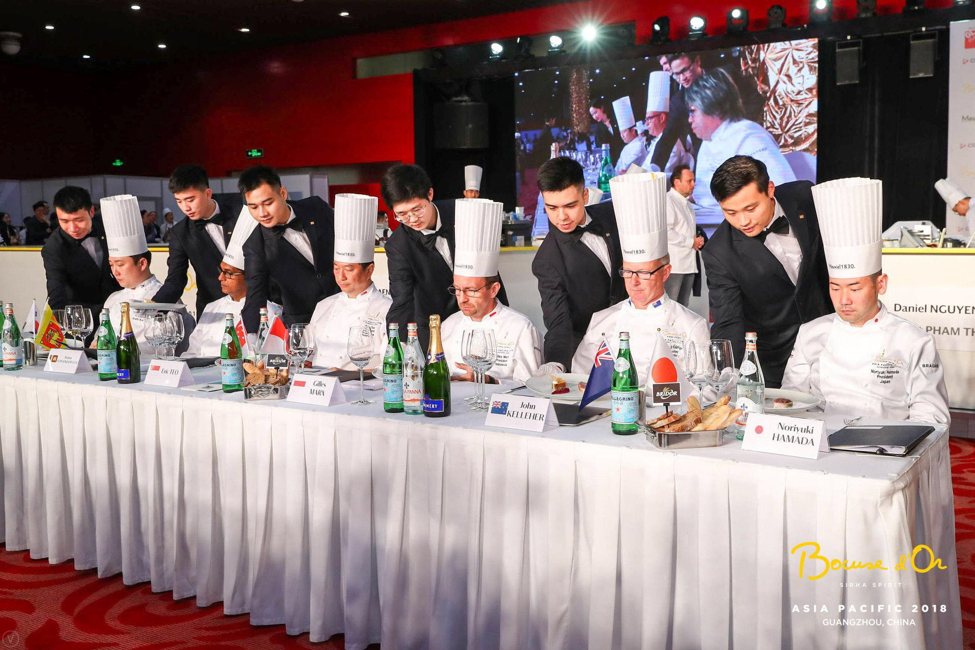 The Podium of 2018 Bocuse d'Or Asia Pacific