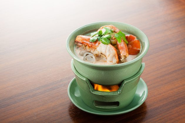 Tom Yum Kung Soup with Prawns