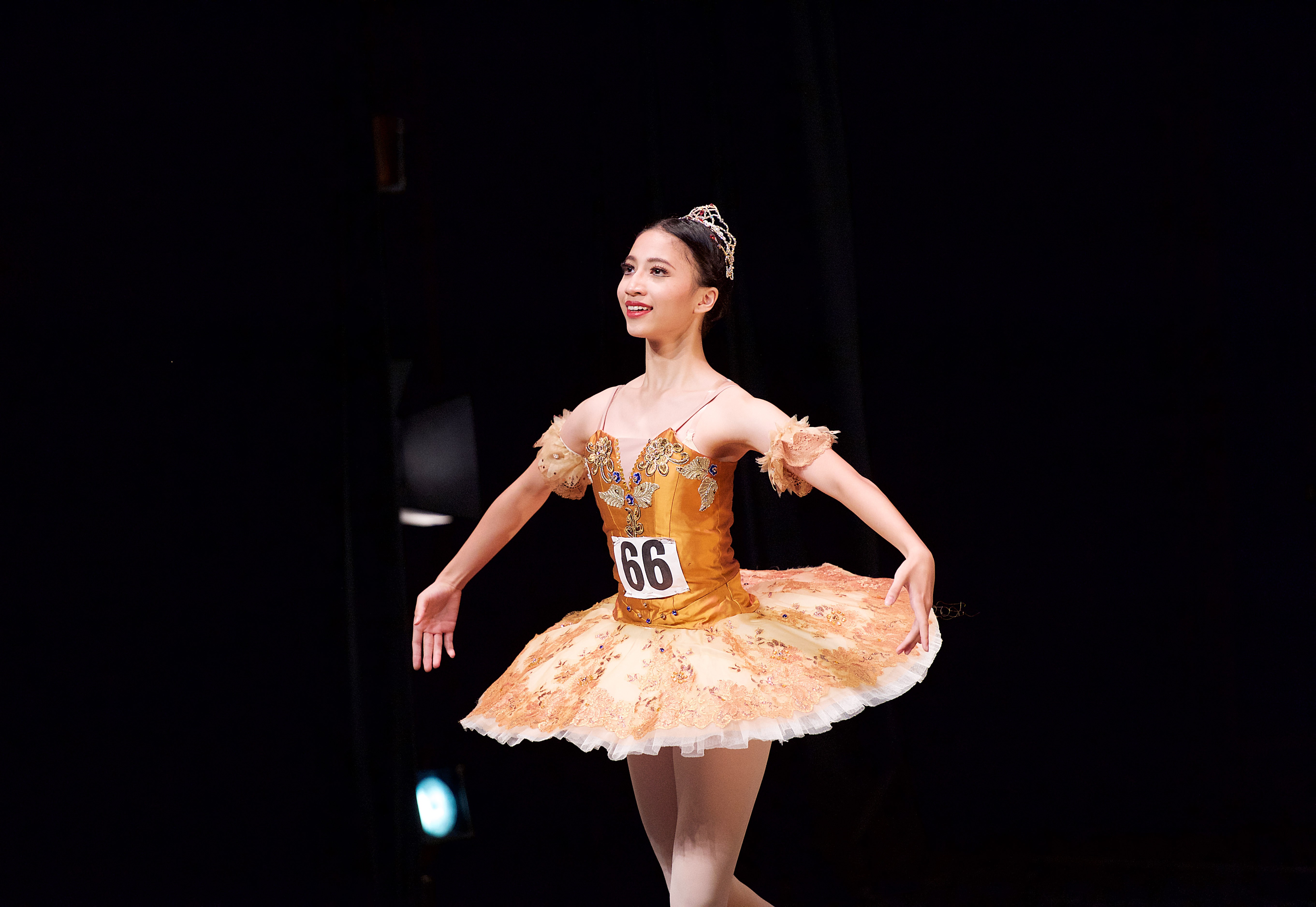 A talented young dancer taking part in RAD Genée International Ballet Competition