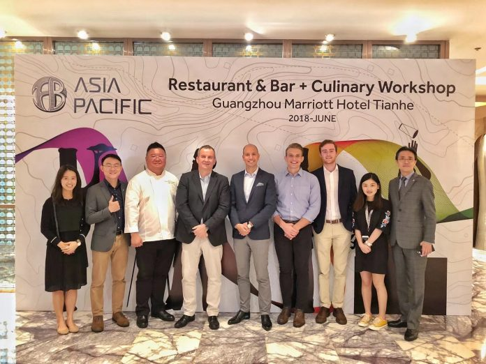 Mr. Toine Koeksel (4th from the left) at Restaurant & Bar + Culinary Workshop by the Asia Pacific of Marriott International