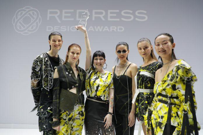 Australian designer Tess Whitfort as Redress Design Award 2018 First Prize Winner