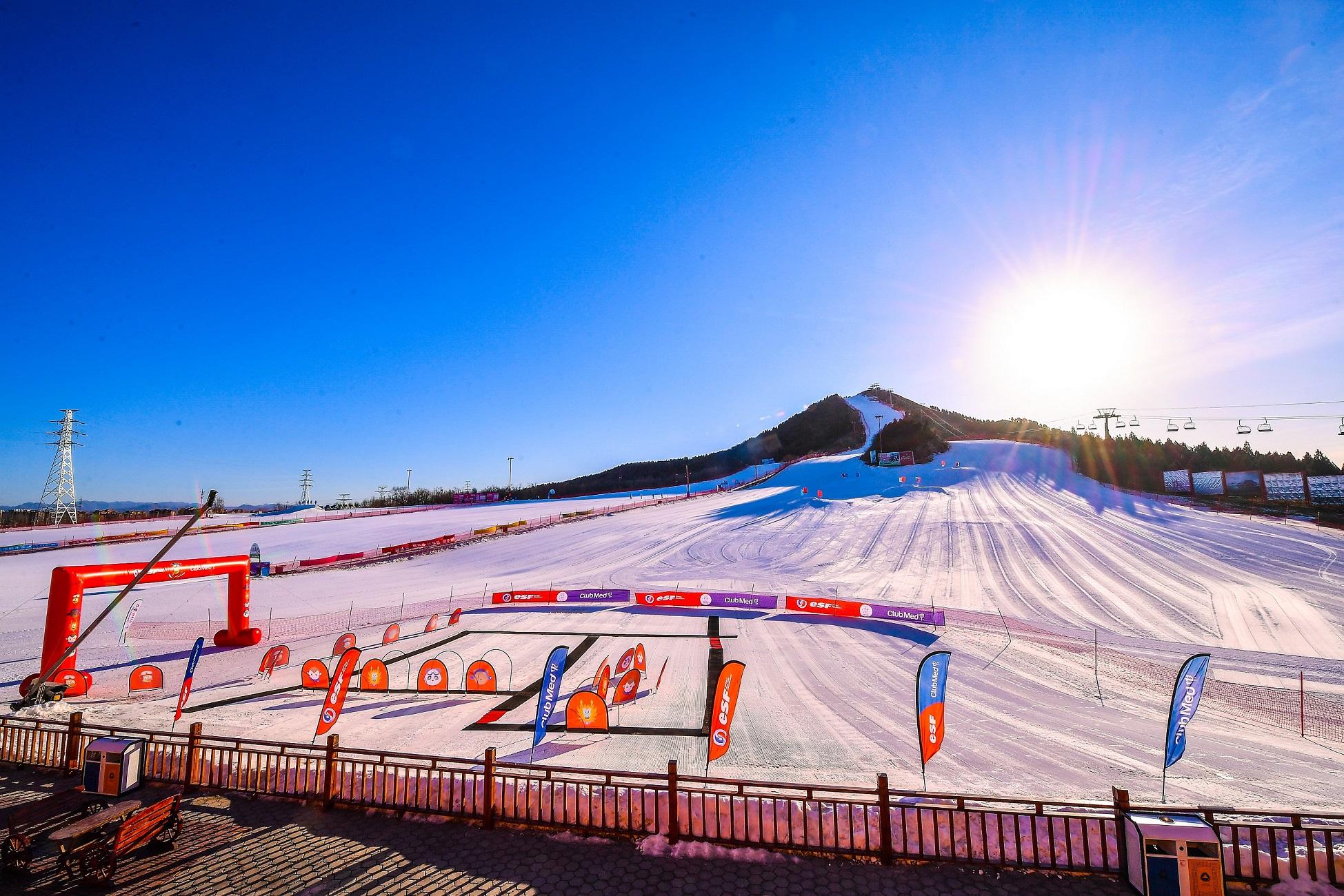 北京莲山滑雪场空景图 | Aerial view of Beijing Star Mountain Ski Resort