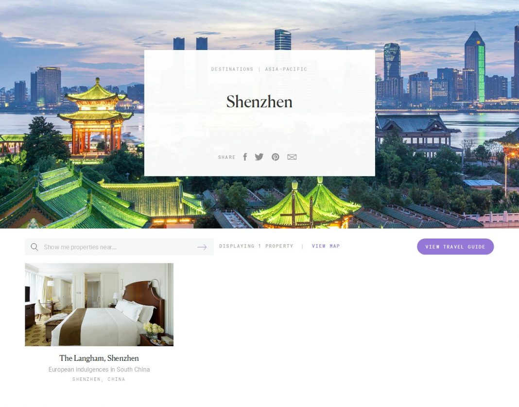 Shenzhen Luxury Hotels - Forbes Travel Guide