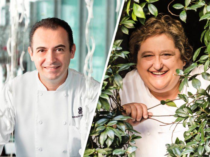 Chef Angelo Agliano and Valeria Piccini