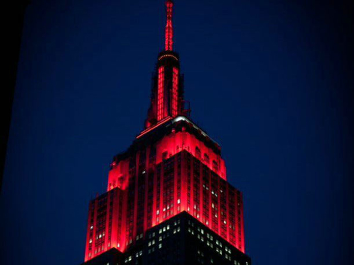 帝国大厦灯光 | Empire State Building Light Show
