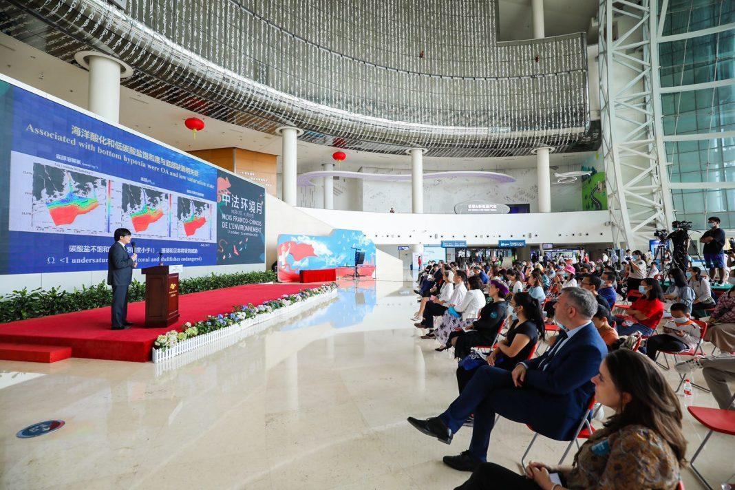 中国科学院院士于开幕式活动上做海洋主题报告 | Member of the Chinese Academy of Sciences gave a report on the ocean at the opening ceremony