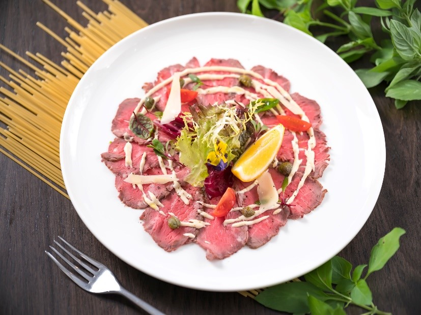 低温煎卡帕奇欧小牛里脊肉 | SOUS VIDE SEARED VEAL CARPACCIO